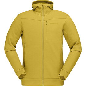 Norrøna Falketind Warmwool2 Stretch Zip Capuchon Trui Heren, golden palm